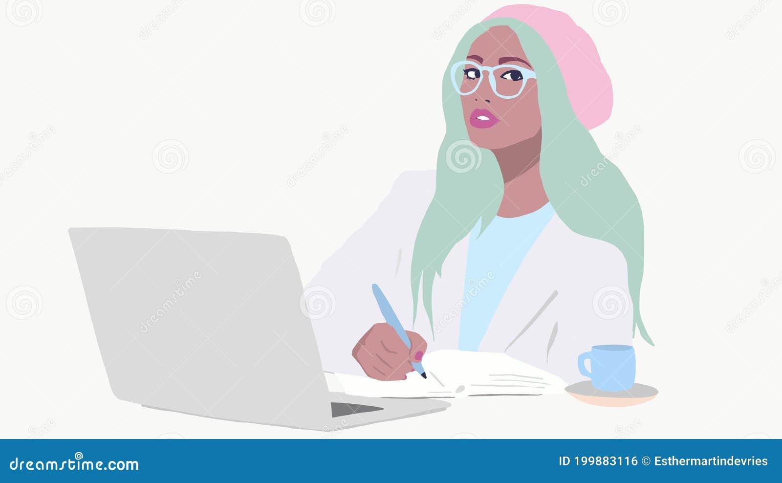 Девушка с ноутбуком работа работа веб моделью с ежедневными выплатами