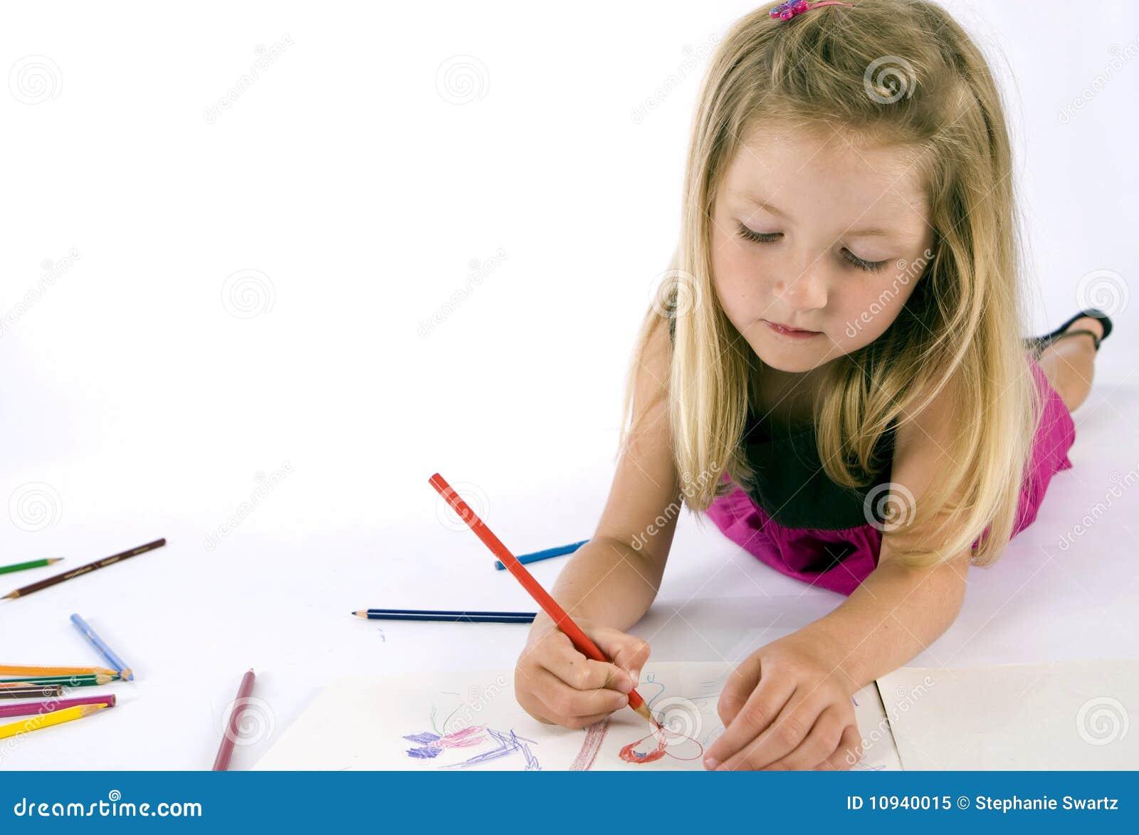 девушка чертежа