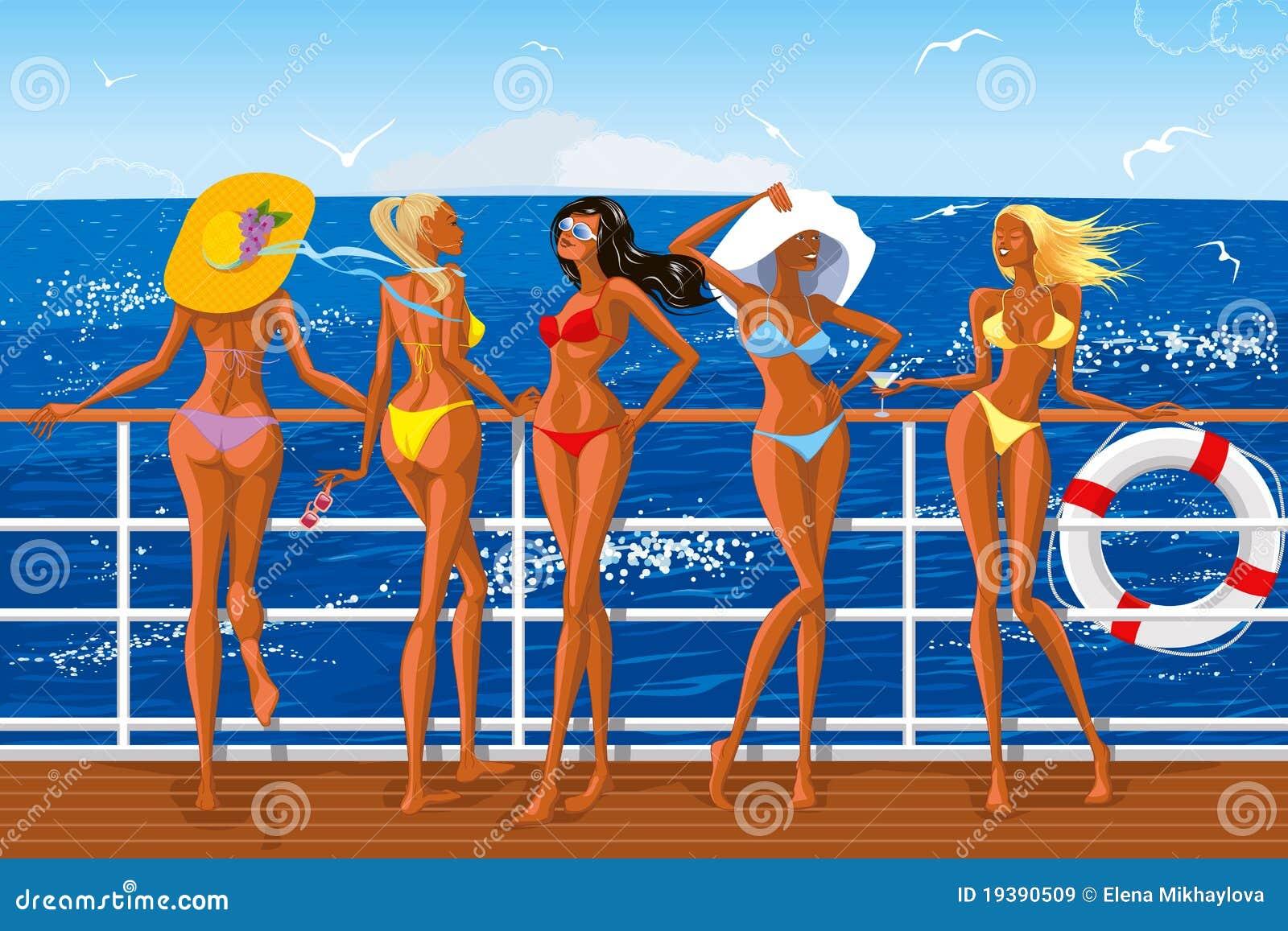 Пляж бикини яхты