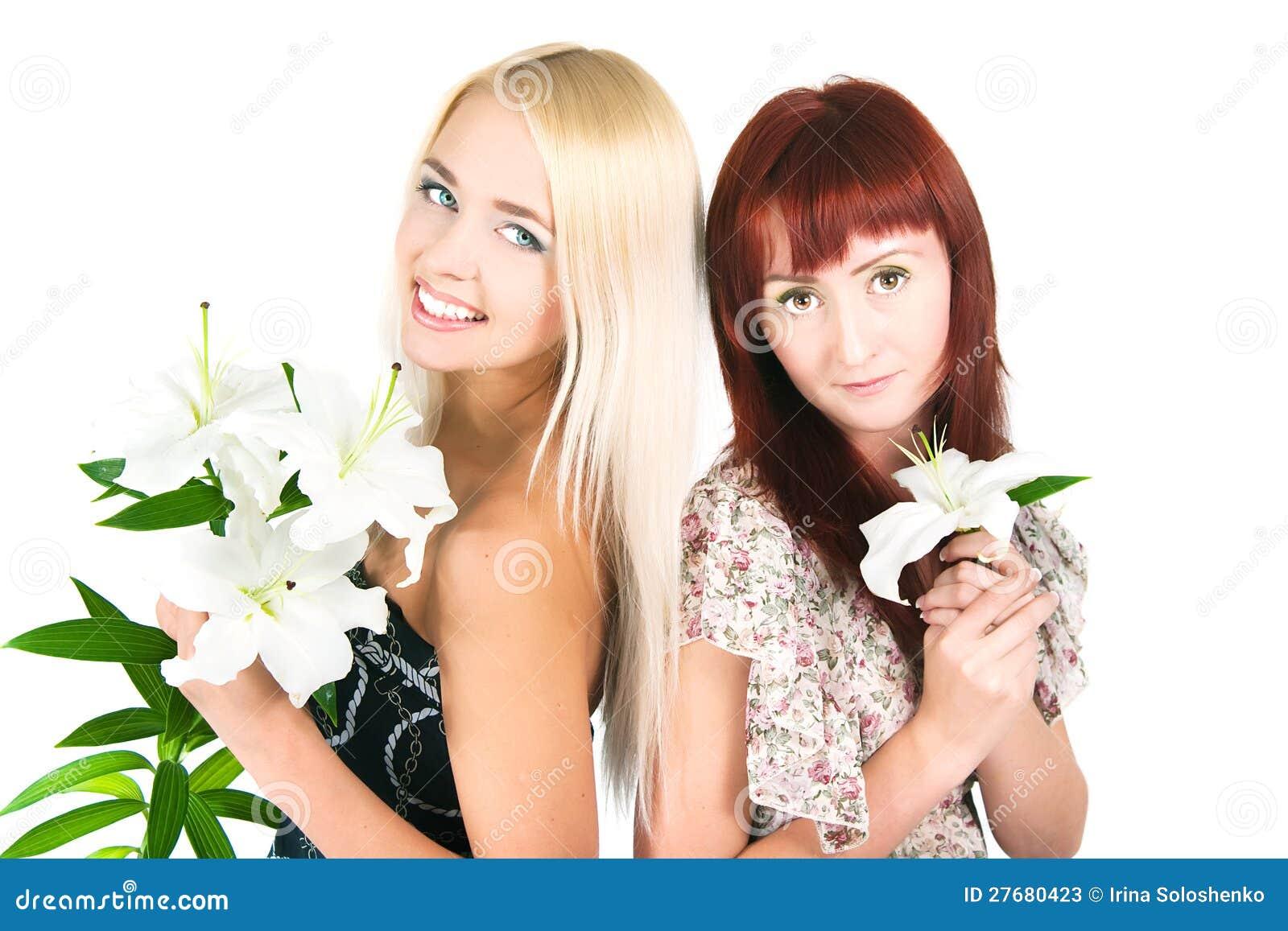 Фото с лилиями девушек