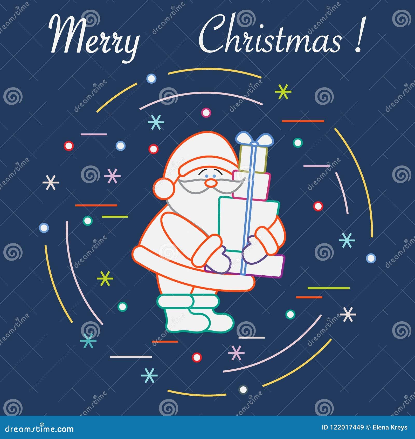 Дед Мороз с настоящими моментами Символы Нового Года и рождества