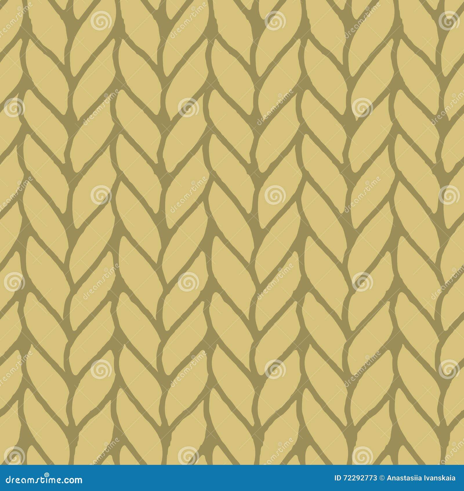 Download Декоративная вязать картина оплеток безшовная Иллюстрация вектора - иллюстрации насчитывающей хлопок, handmade: 72292773