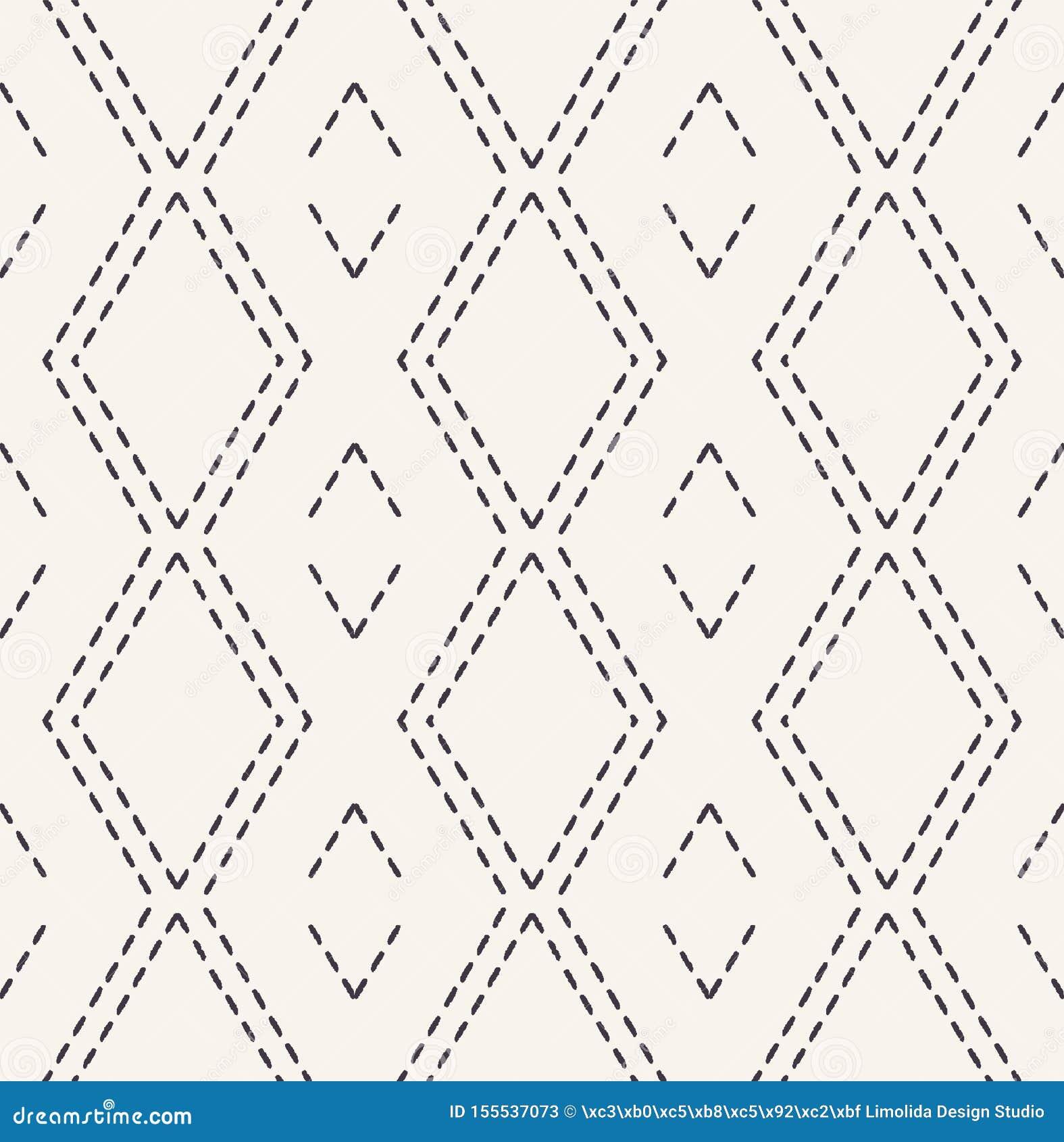 Декоративная картина вышивки идущим стежком Предпосылка вектора викторианского needlework диаманта безшовная o