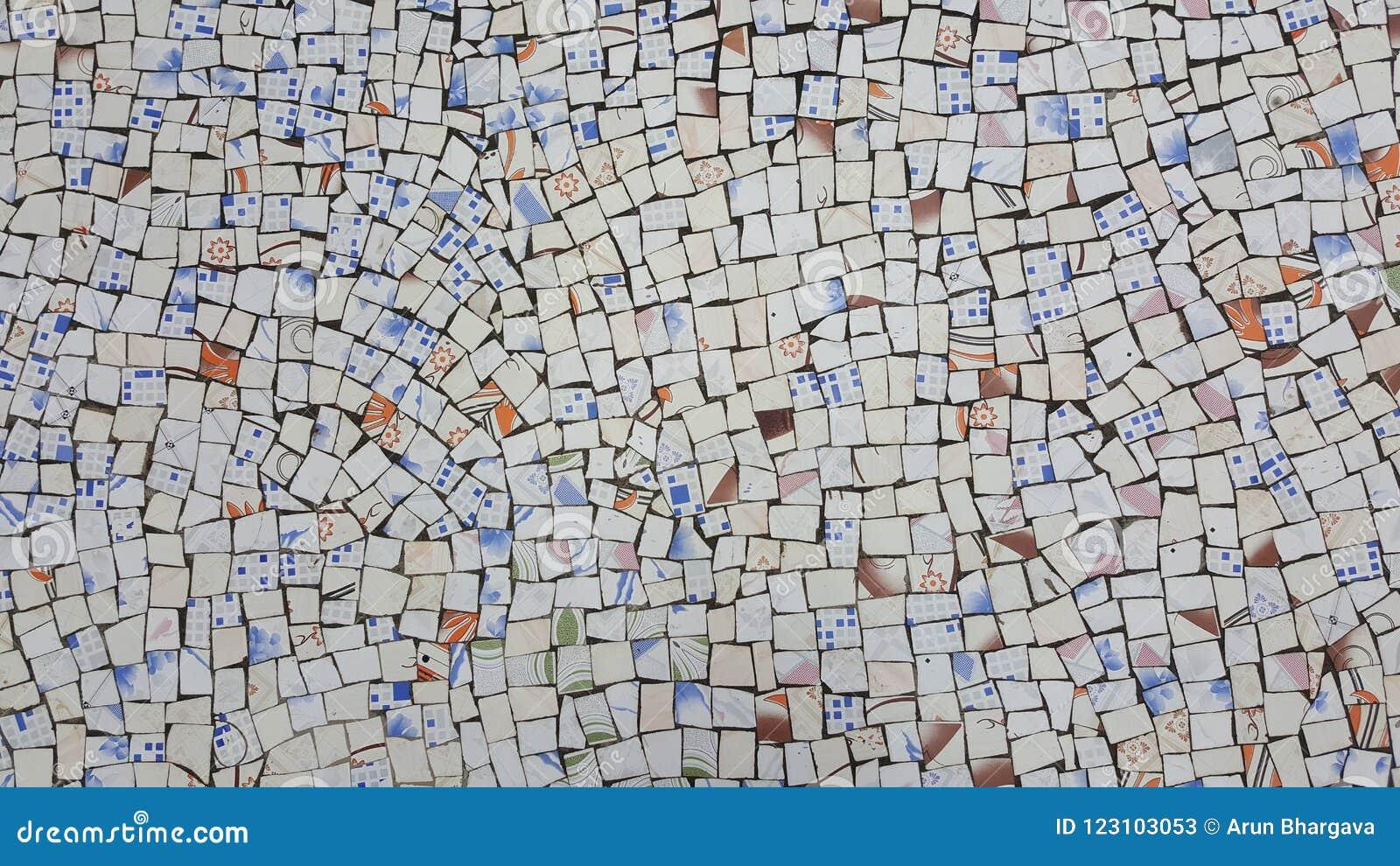 Декоративная предпосылка сломленных плиток мозаики