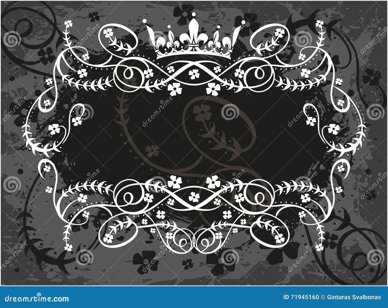 Декоративная рамка с кроной