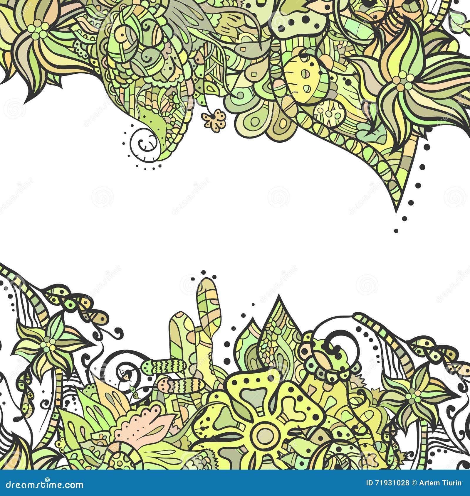 Декоративные углы элемента Абстрактная карточка приглашения Шаблон w