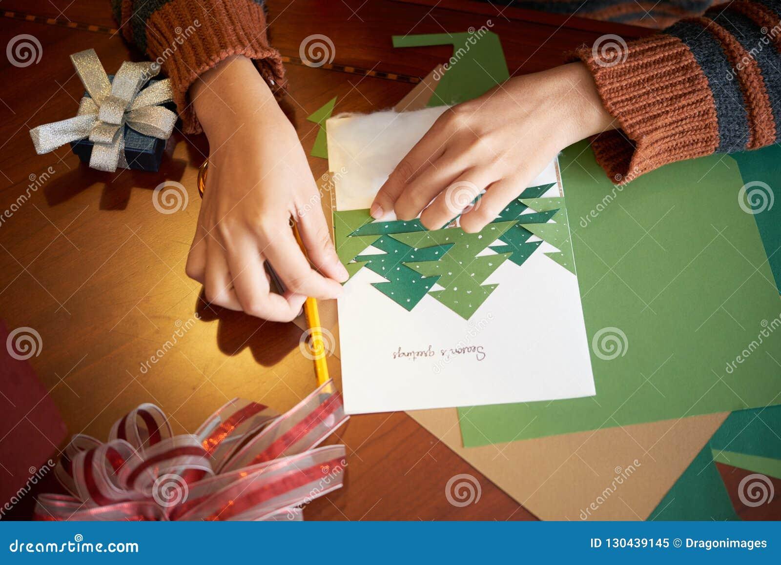 Делать поздравительную открытку рождества