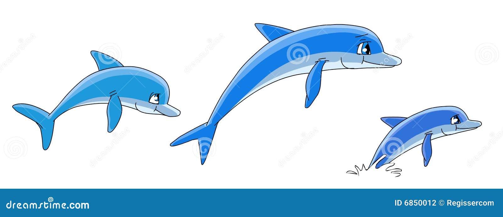 дельфины шаржа