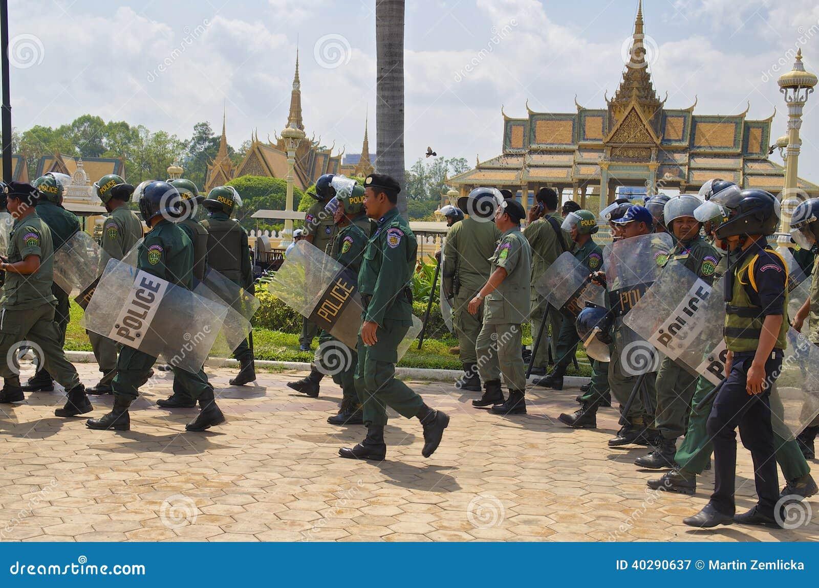 Демонстрация в Phnom Phen