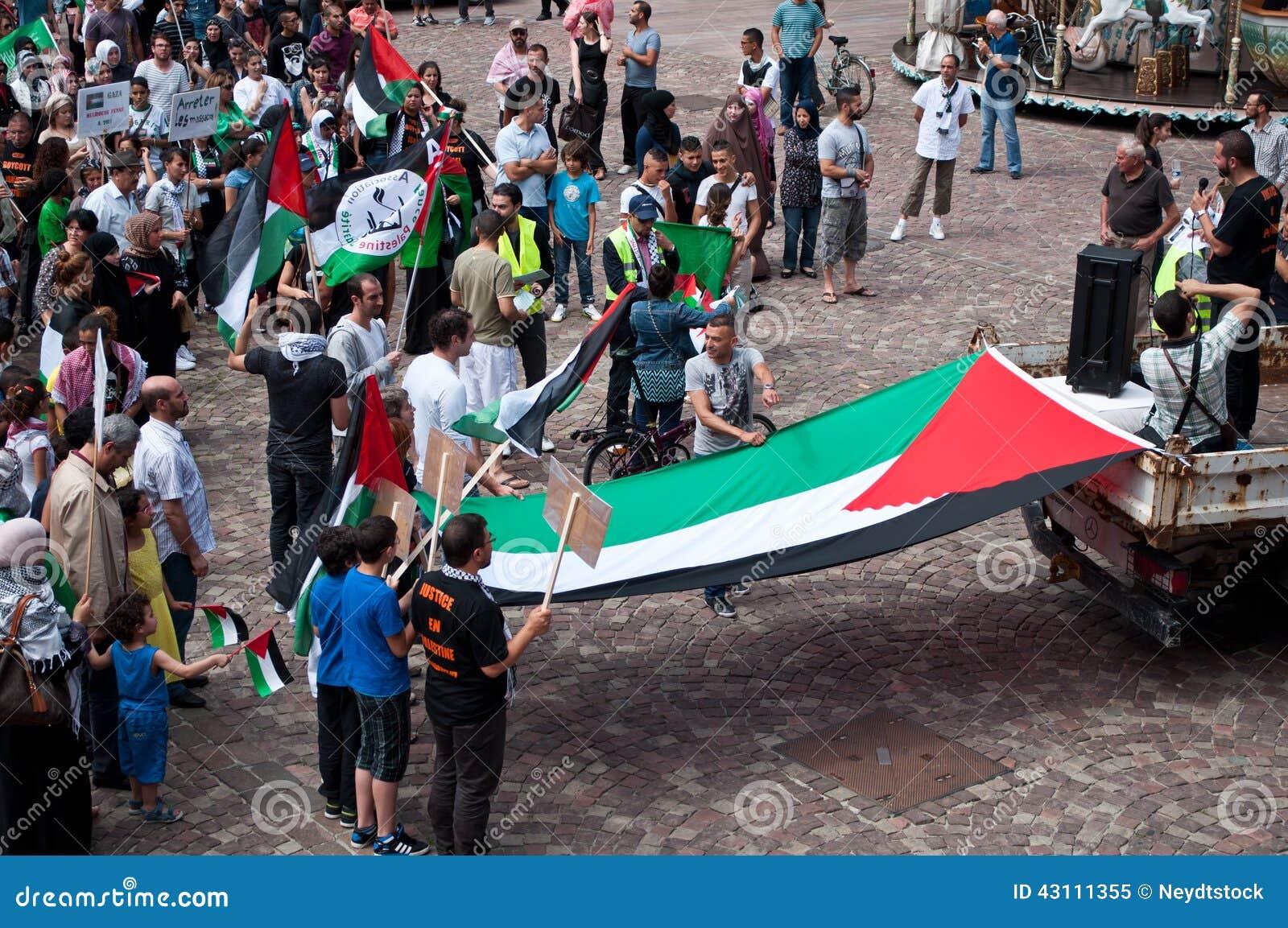 Демонстрация для мира между Израилем и Палестиной, против израильского взрыва в Газа