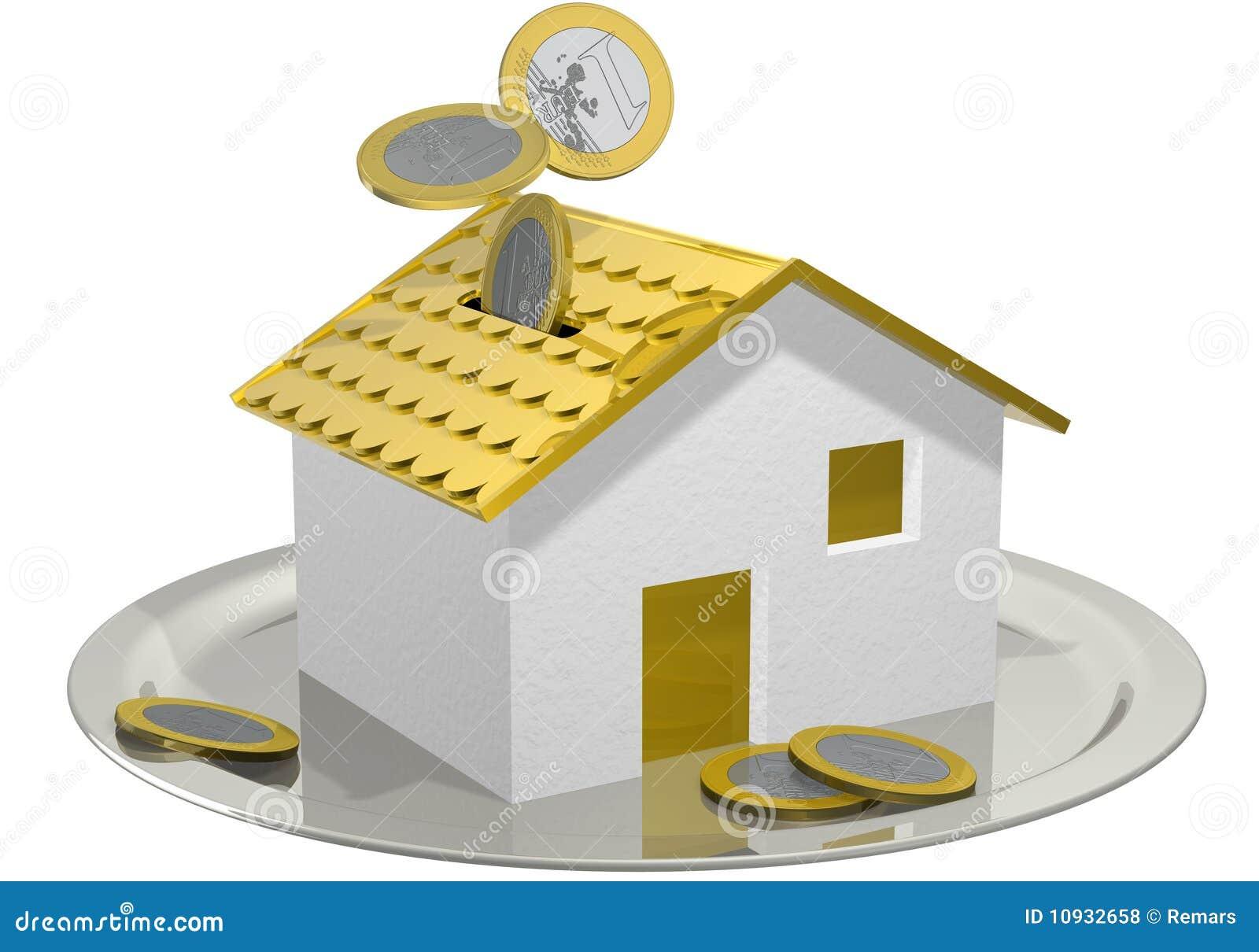 деньги дома коробки
