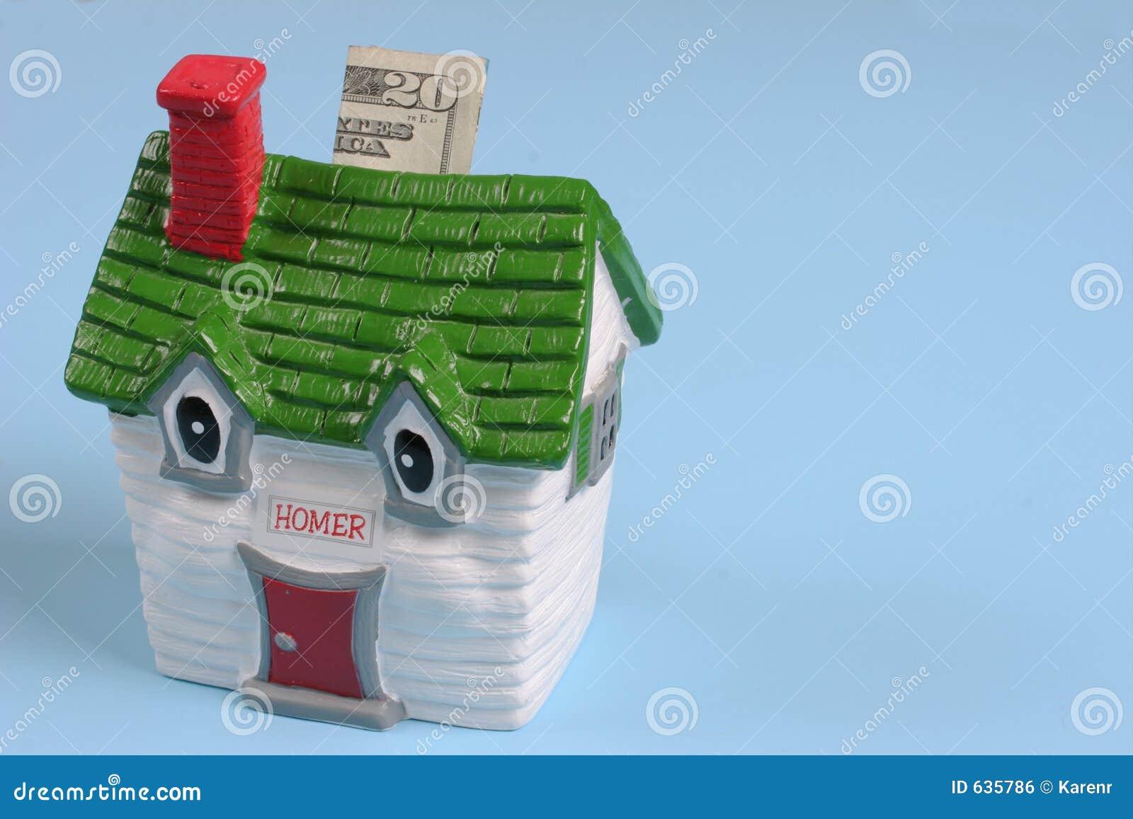 Download деньги дома стоковое фото. изображение насчитывающей рента - 635786