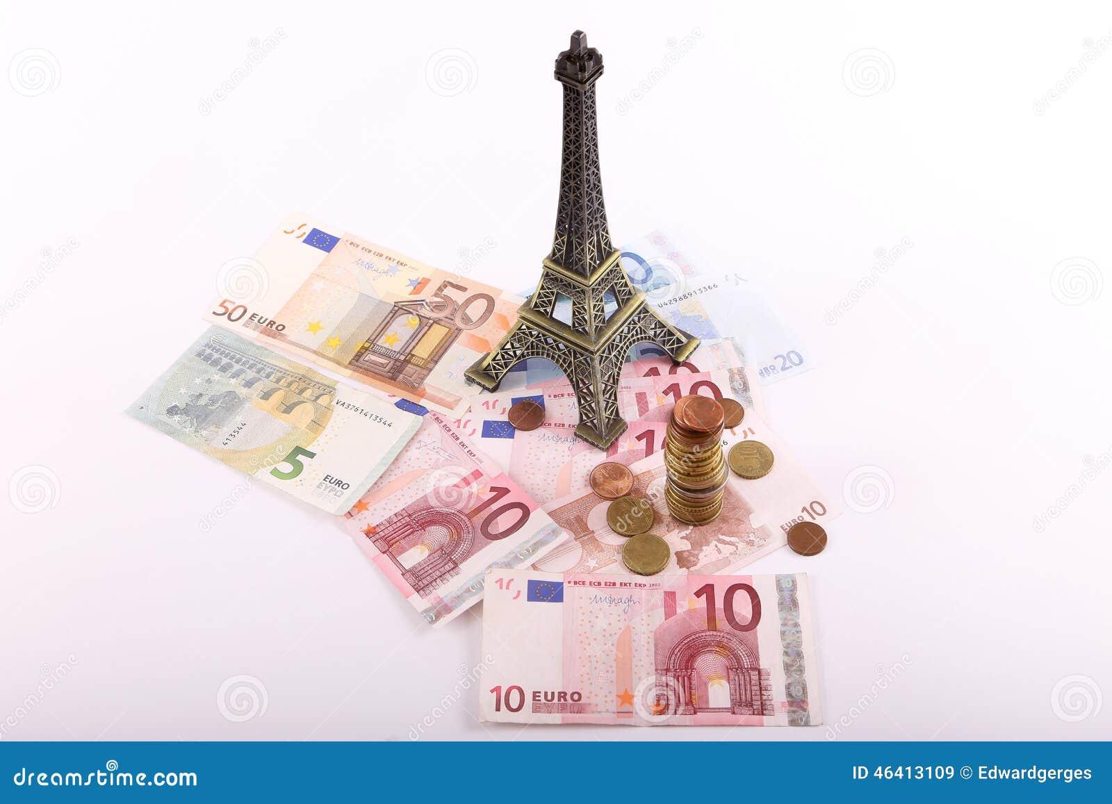 Деньги евро Парижа