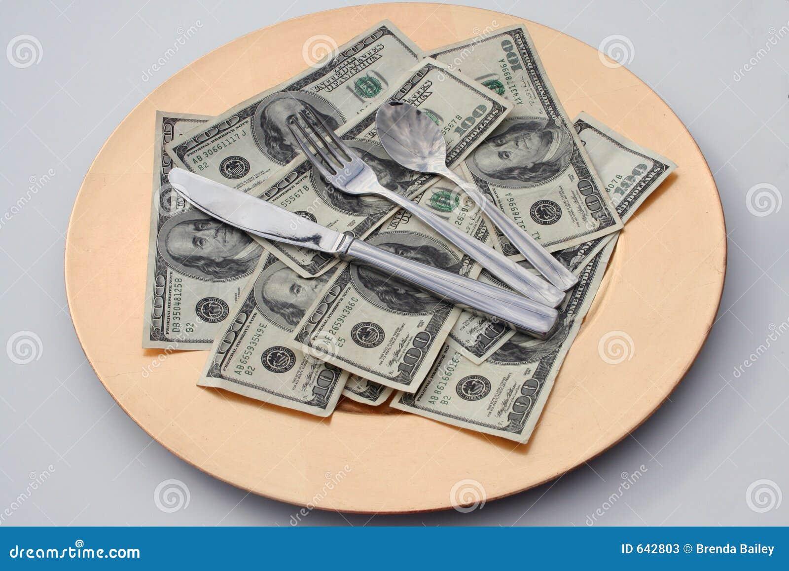 Download деньги еды стоковое изображение. изображение насчитывающей здорово - 642803