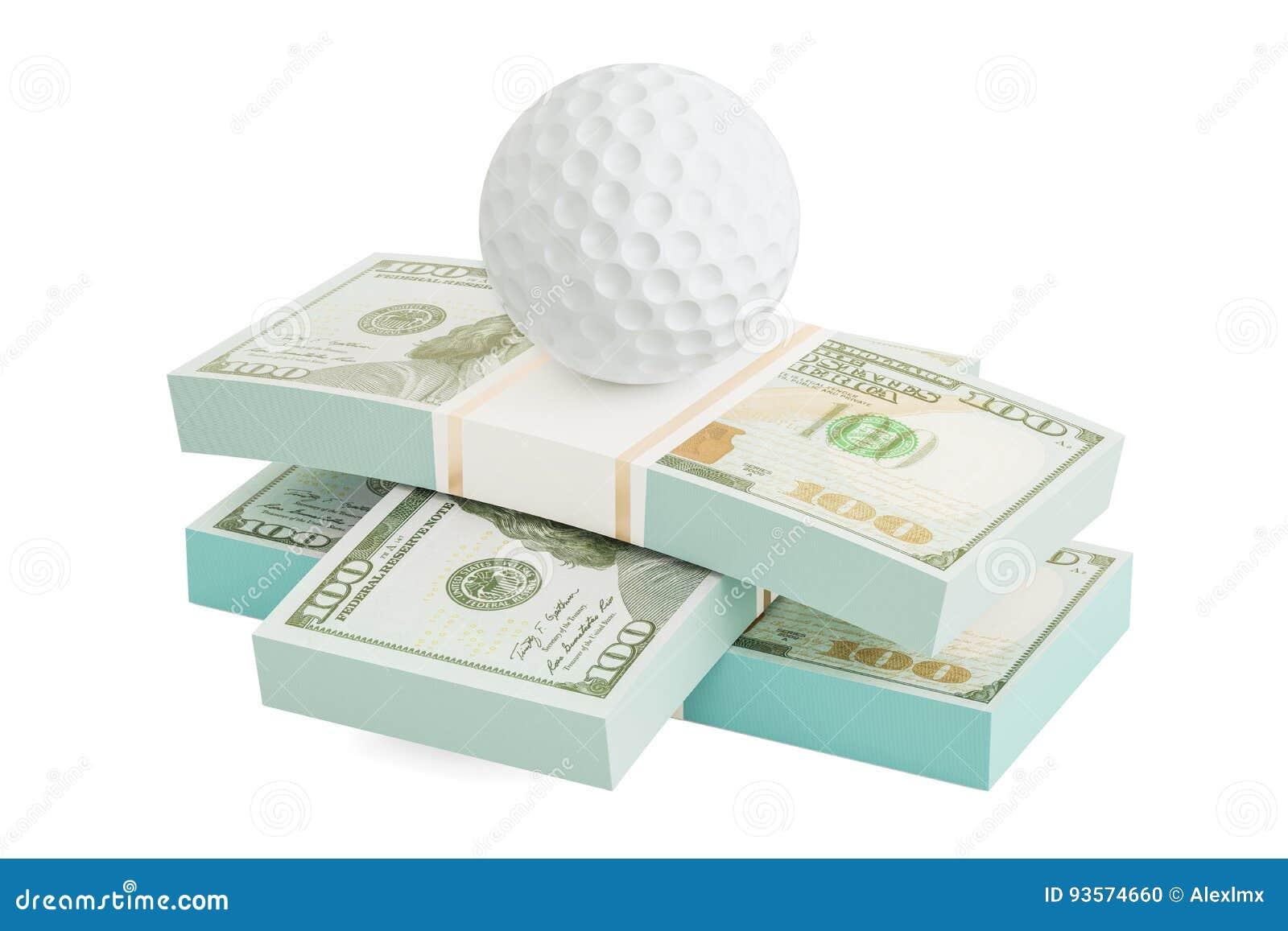игра в гольф и деньги