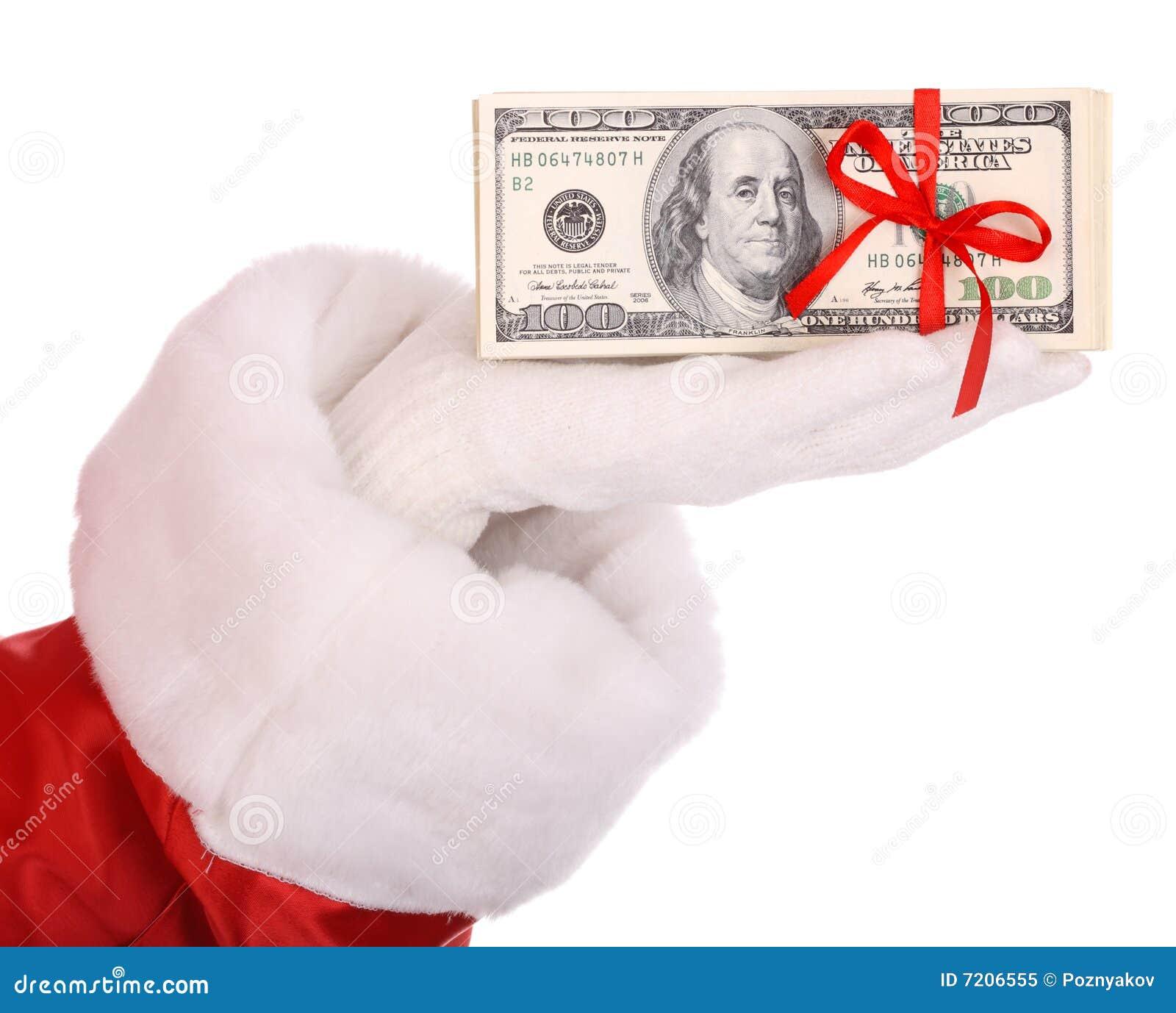 деньги руки santa claus
