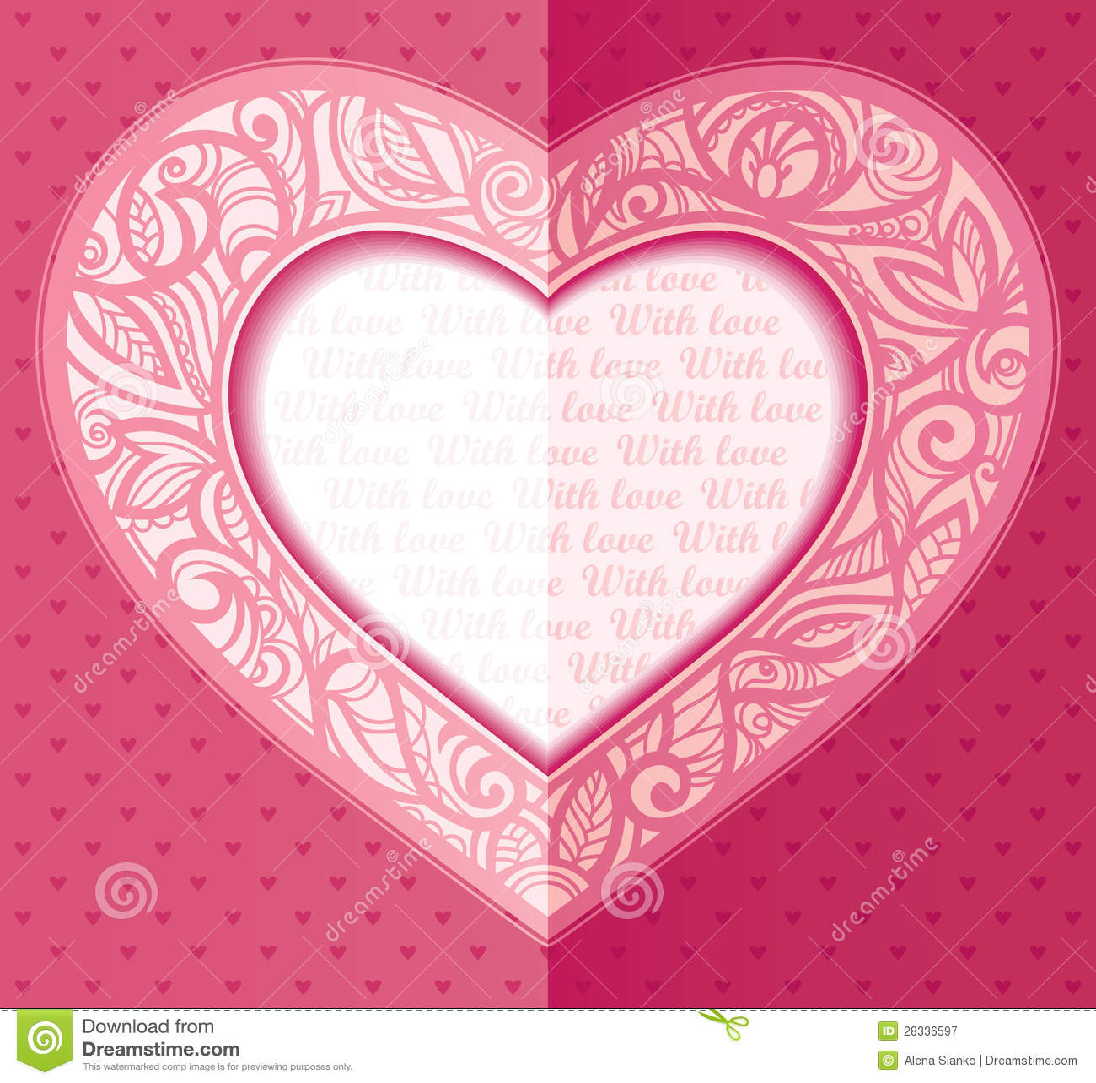 В виде сердечек открыток