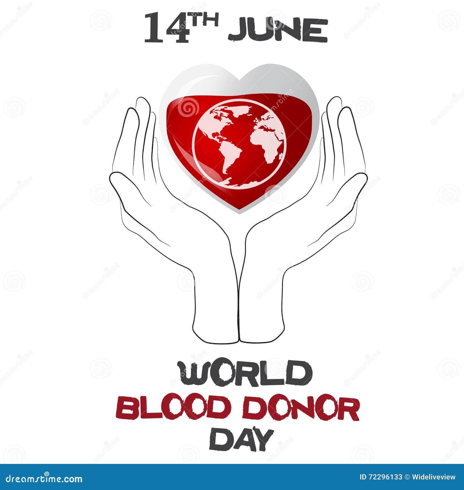 Download День донора мира, иллюстрация вектора с сердцем, планетой Иллюстрация штока - иллюстрации насчитывающей жидкость, потек: 72296133