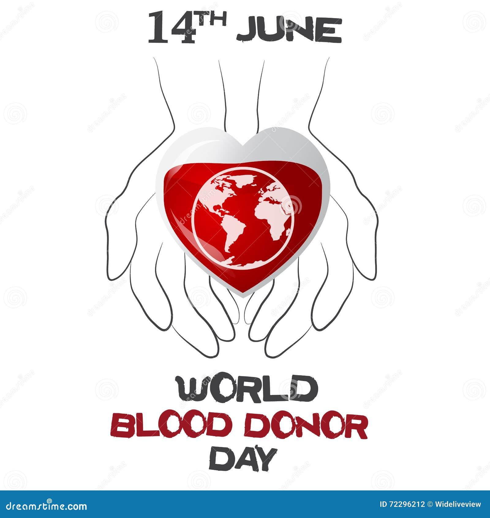 Download День донора мира, иллюстрация вектора с сердцем, планетой Иллюстрация вектора - иллюстрации насчитывающей июнь, кампания: 72296212