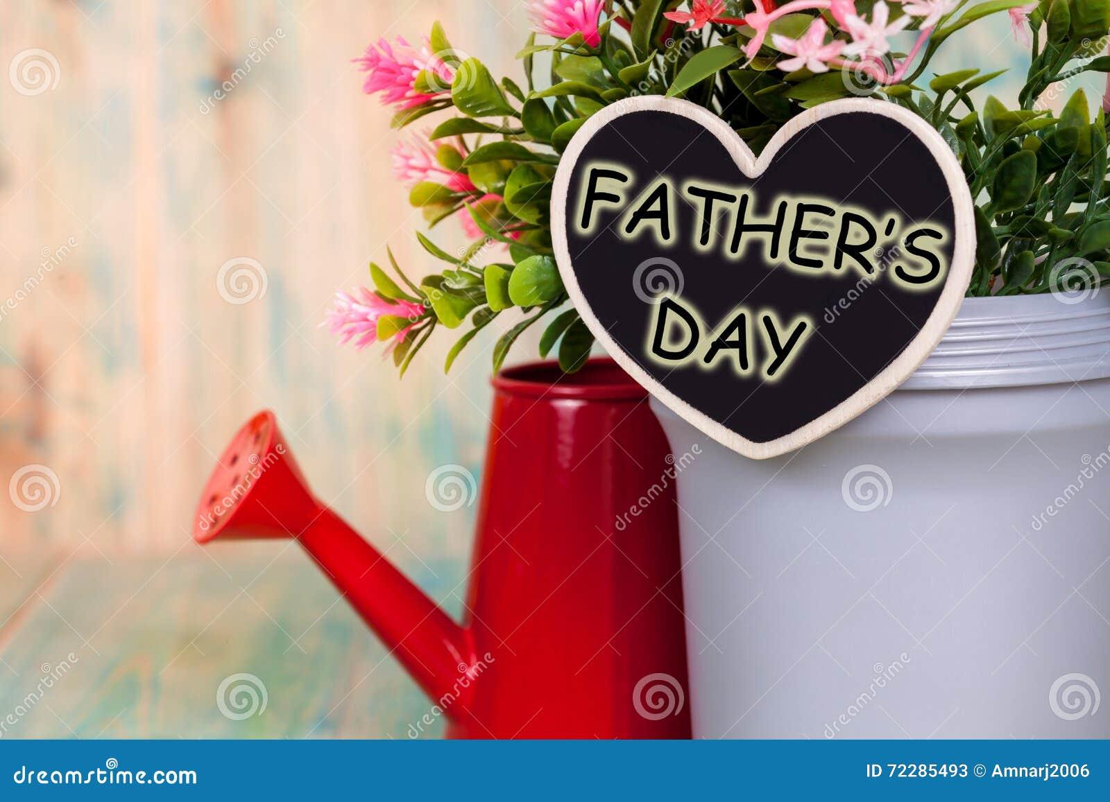 День отца с цветком в красном цвете может