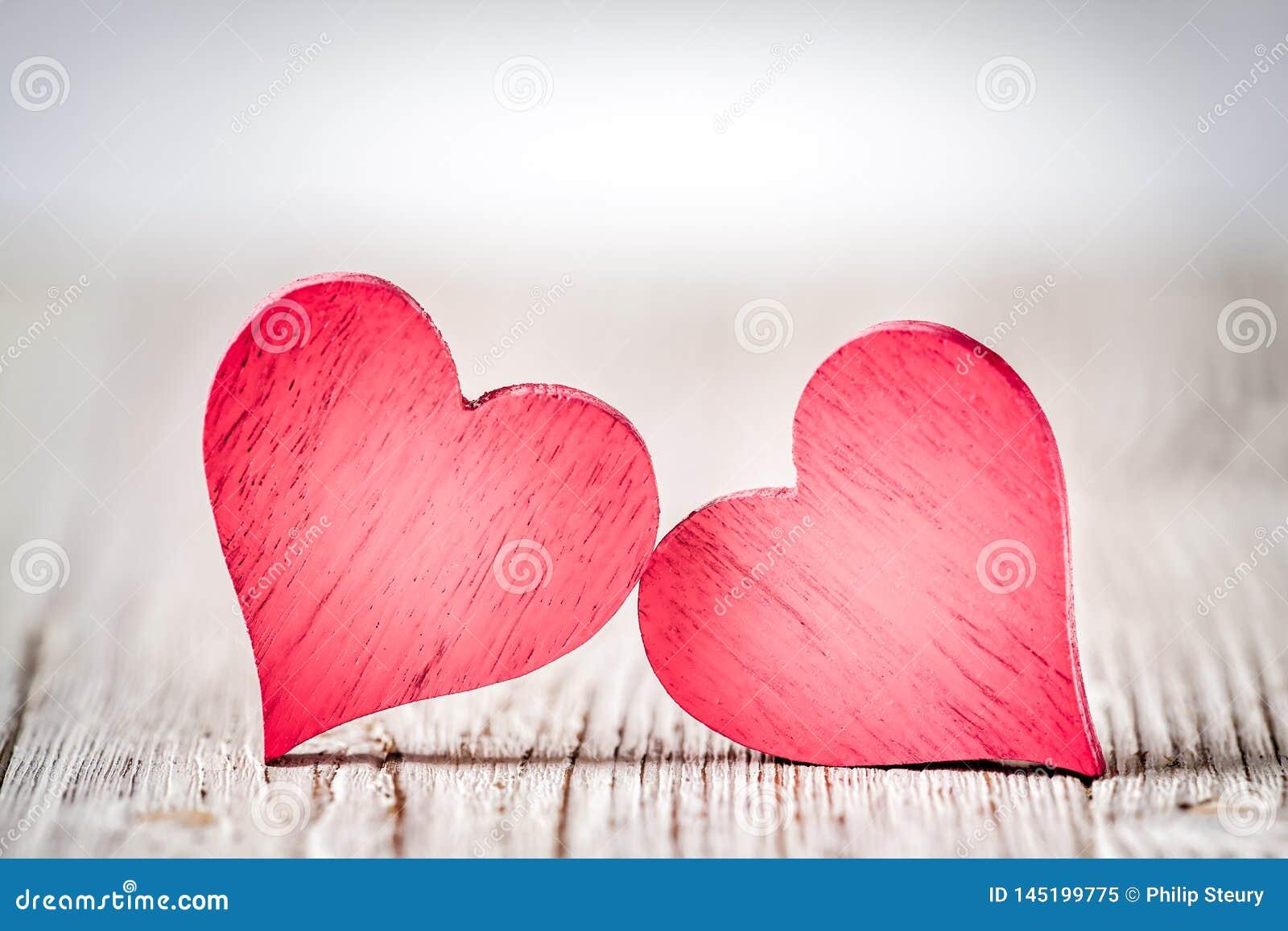 Деревенские сердца дня Святого Валентина