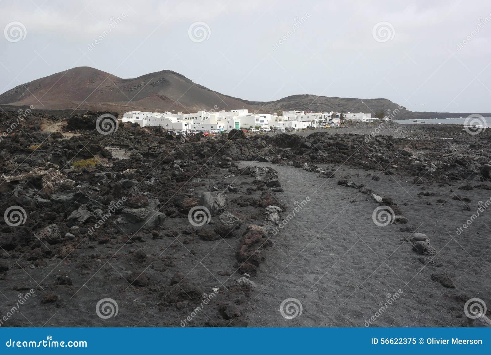 Деревня golfo El, Лансароте, острова canaria