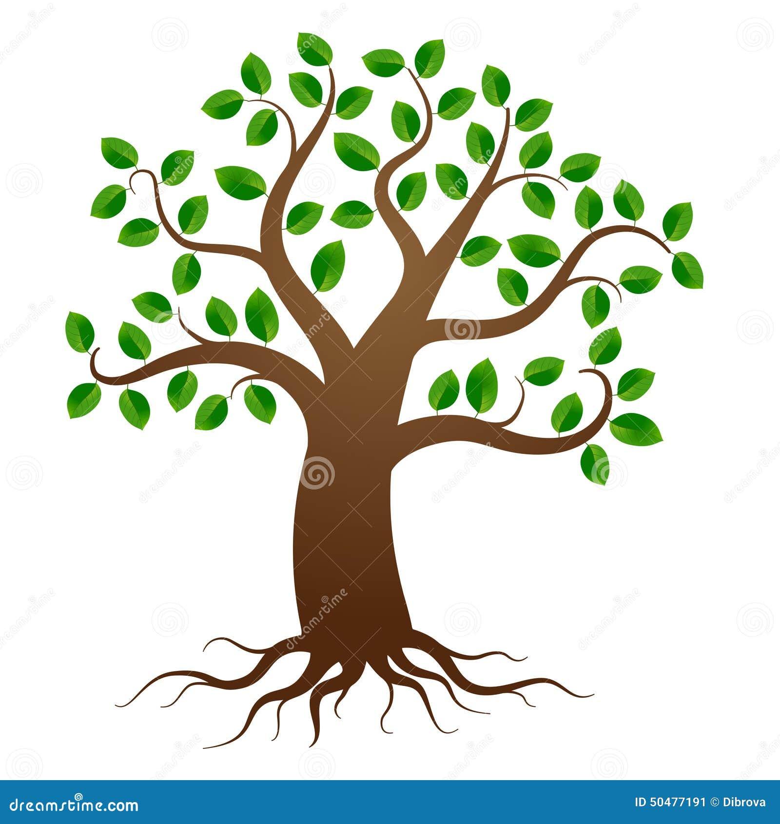 Дерево вектора с корнями иллюстрация вектора. иллюстрации ...