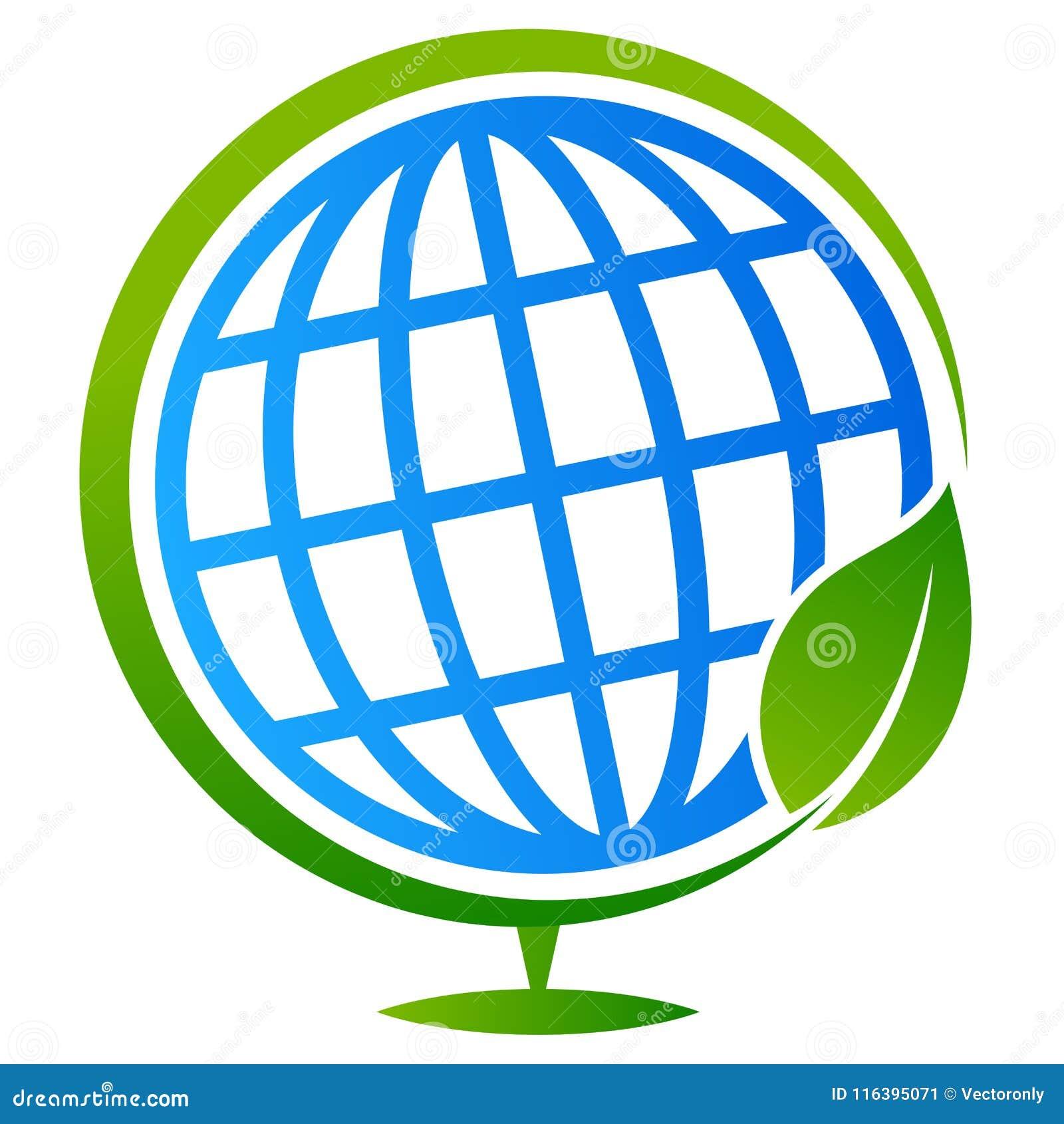 Дерево глобуса с логотипом лист
