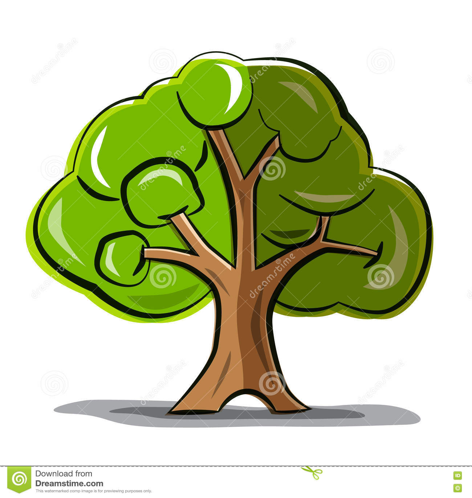 Дерево - дерево вектора абстрактное