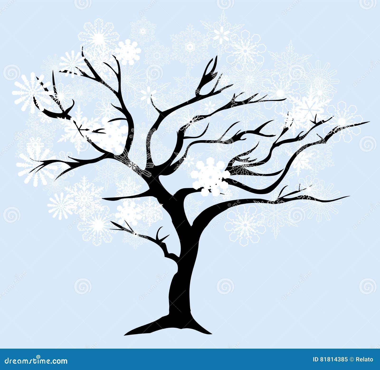 Дерево снега вектора