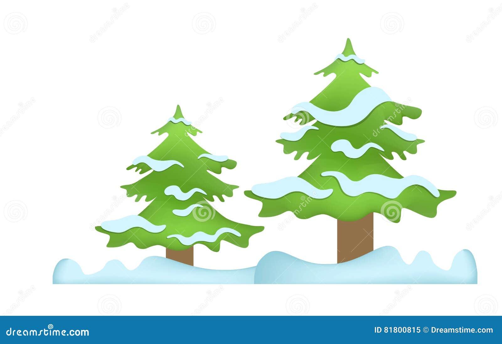 Деревья зимы в снежке