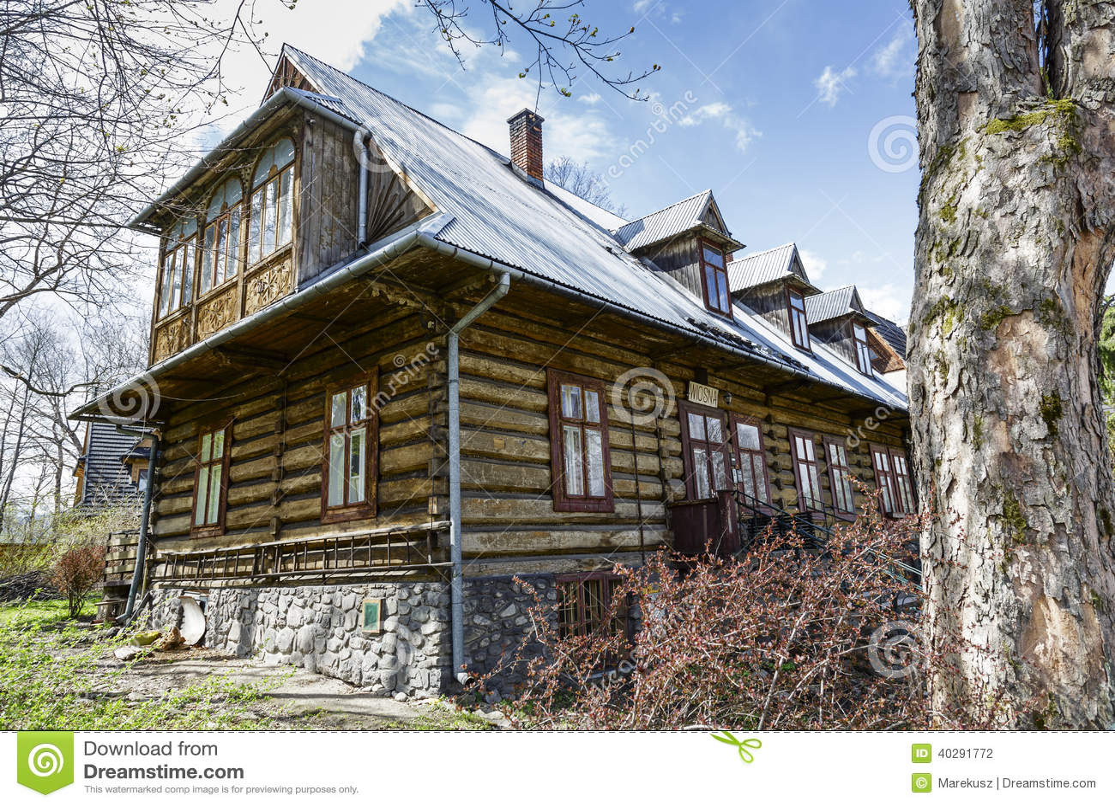 Деревянная вилла Wiosna в Zakopane