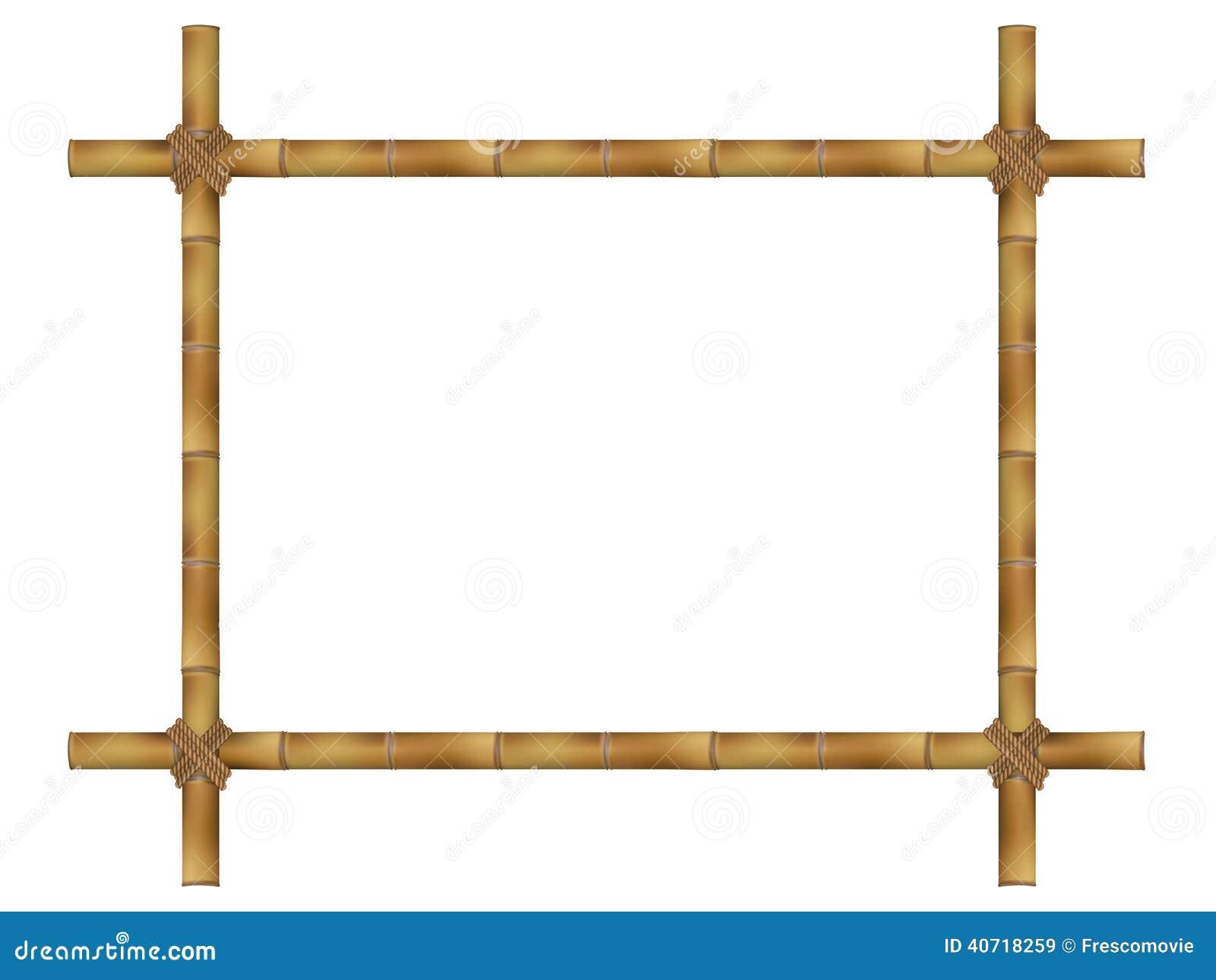 Деревянная рамка старых бамбуковых ручек