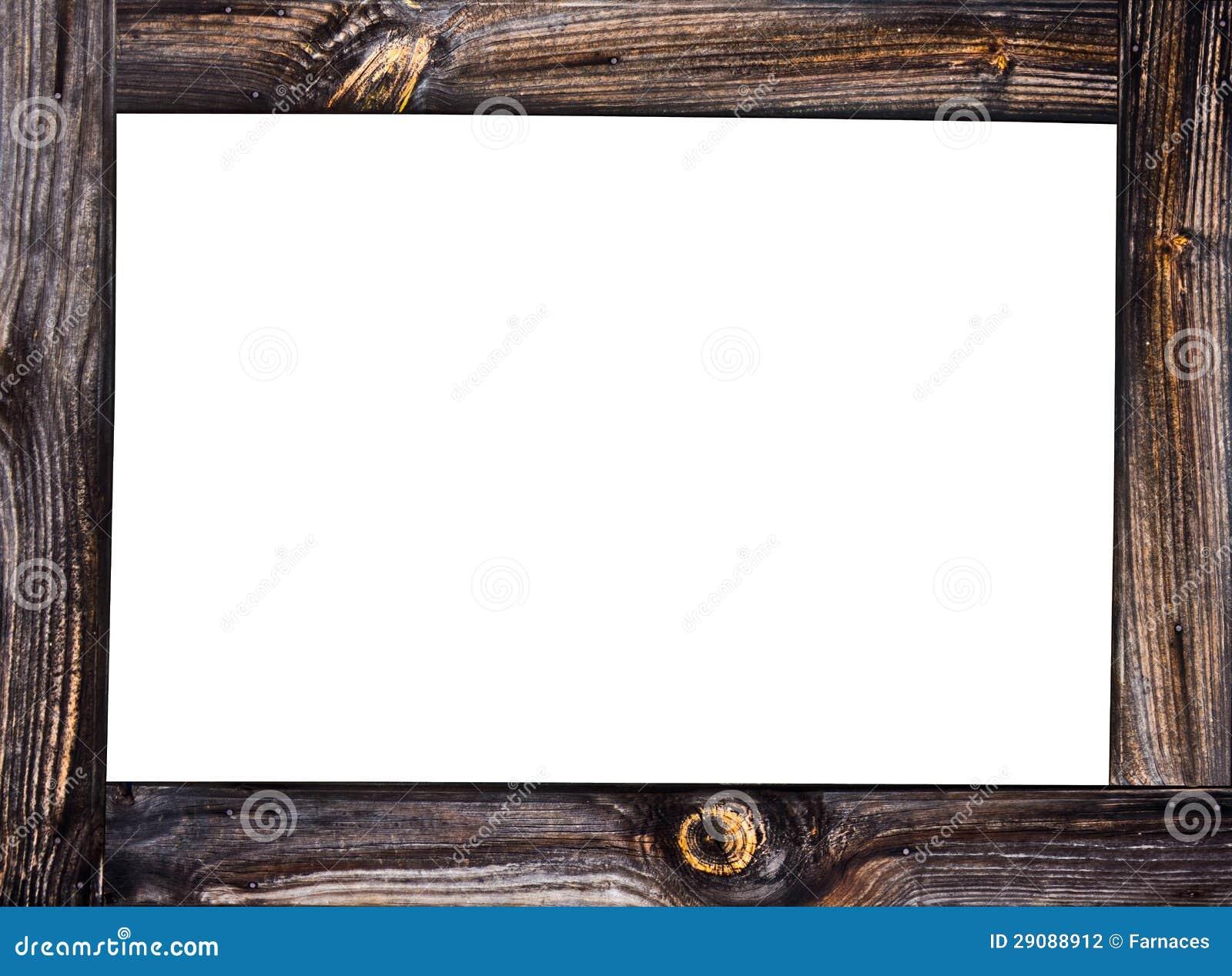 деревянная рамка стоковое фото изображение насчитывающей украшение