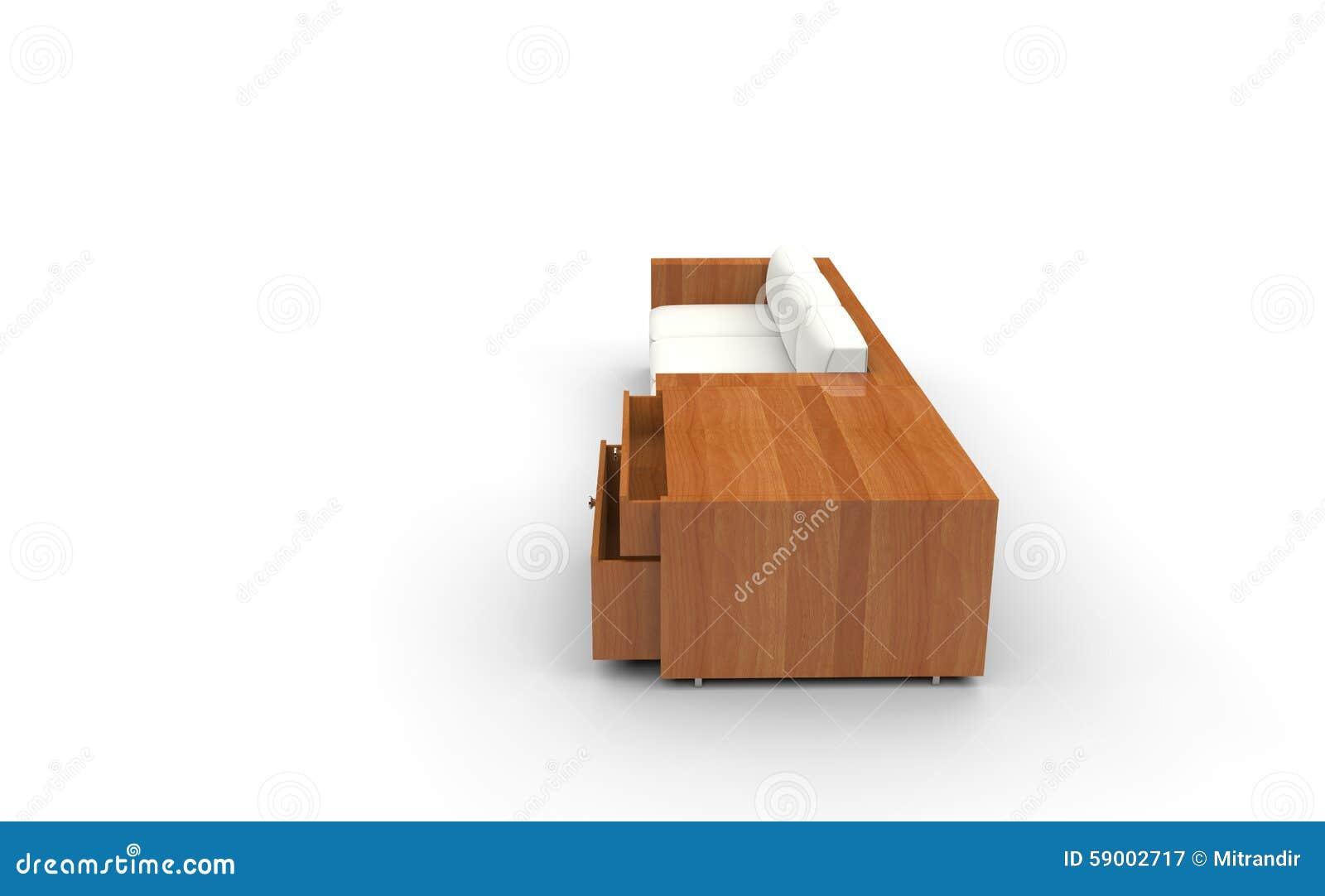 Деревянная софа