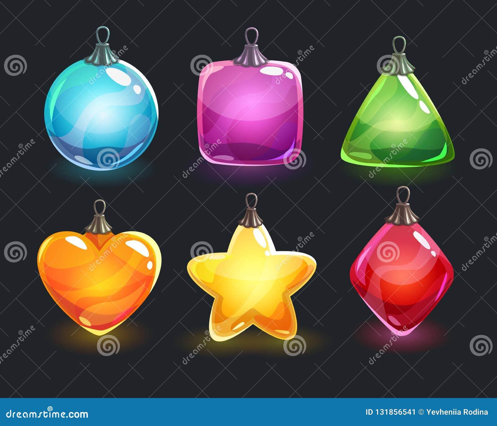 деревянное украшений рождества экологическое Игрушки праздничного красочного лоснистого Нового Года сияющие