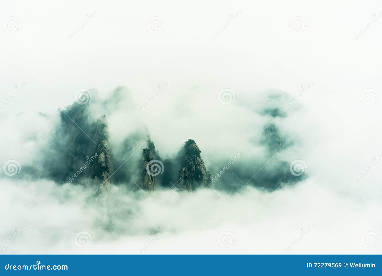 Download Держатель Huangshan Китая Аньхоя Стоковое Изображение - изображение насчитывающей облако, естественно: 72279569
