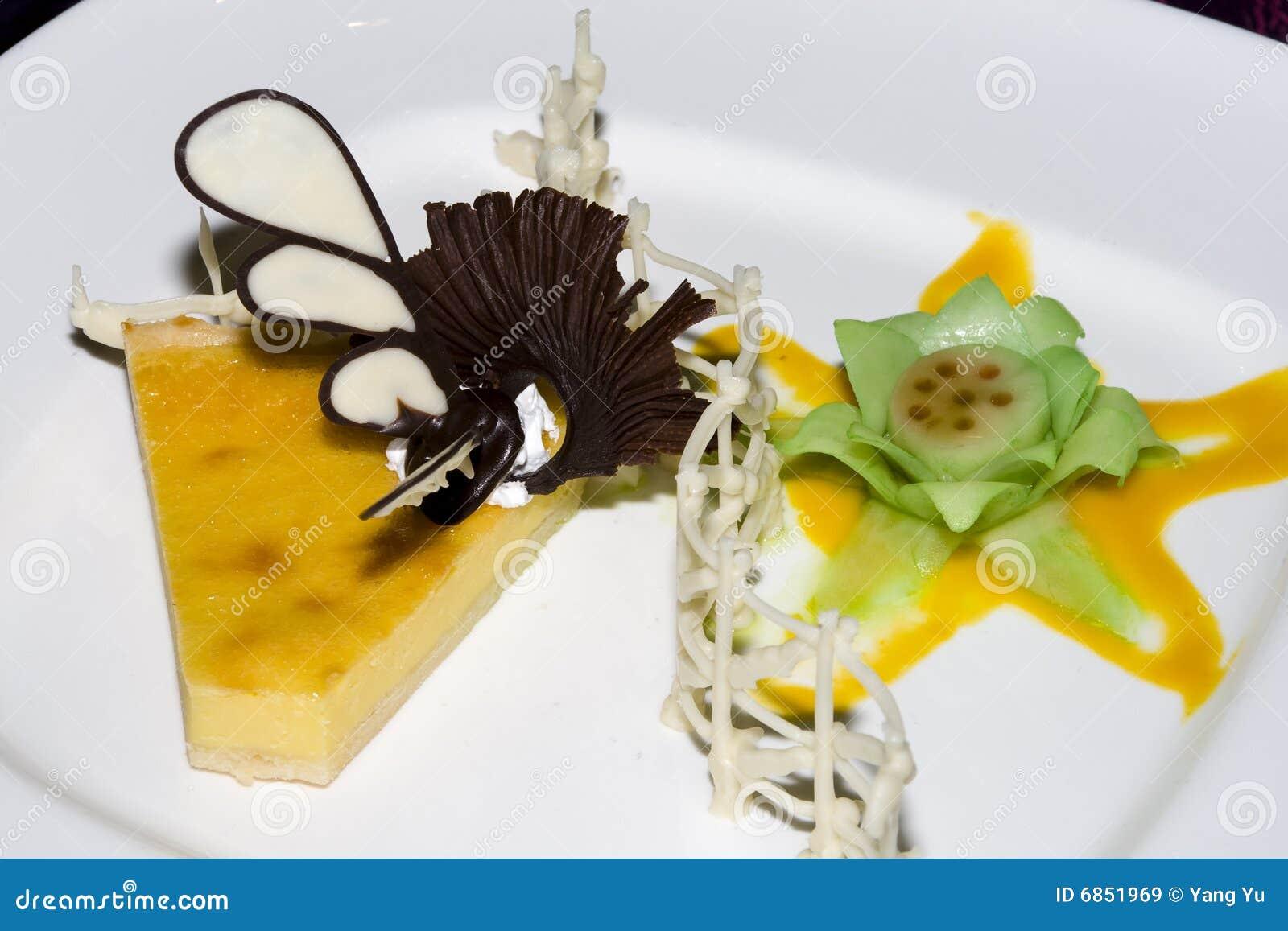 Десерт на плите