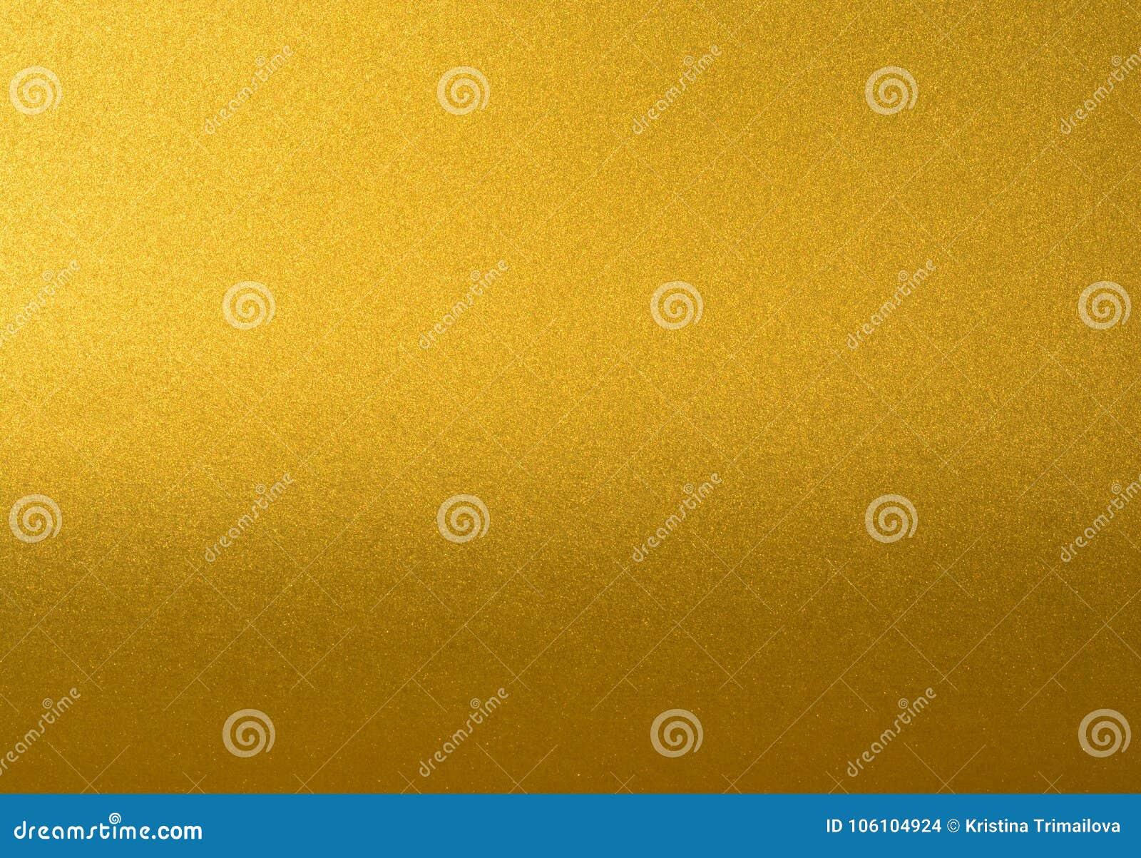 Детали золотой предпосылки текстуры с градиентом и тенью Стена краски цвета золота Роскошная золотая предпосылка и