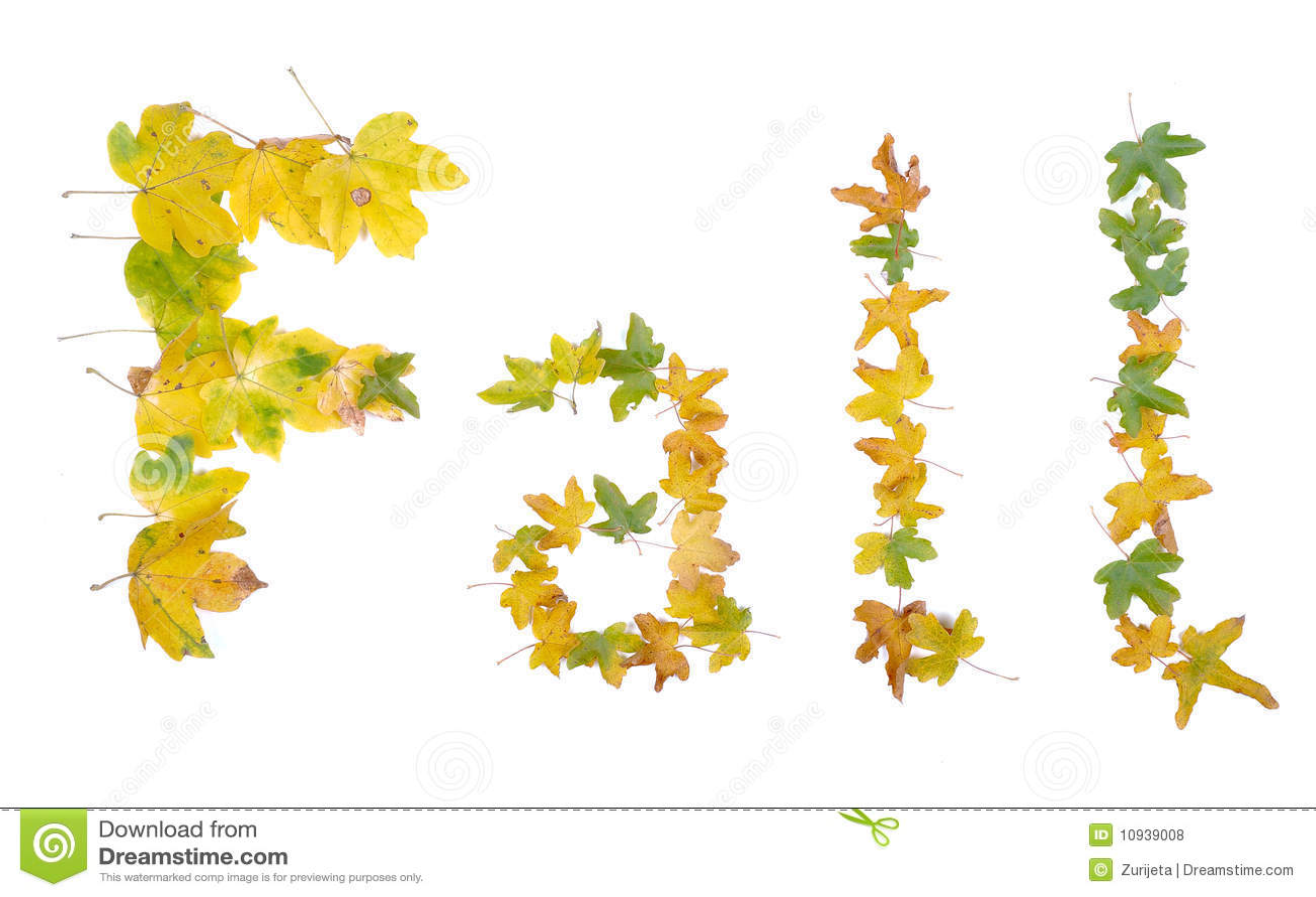 детали падают изолированная форма листьев