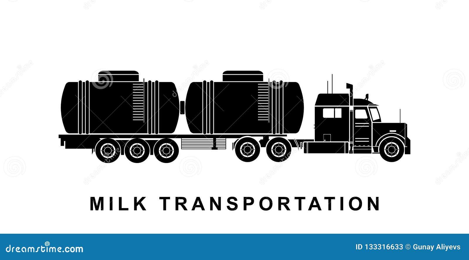 Детальная иллюстрация автоцистерны молока