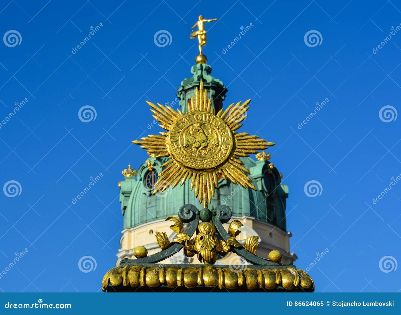 Детали замка Charlottenburg в Берлине