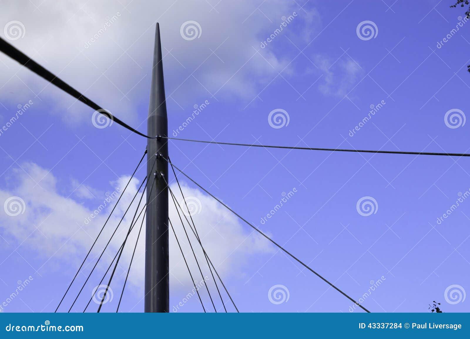 Детали кабеля и поддержки висячего моста