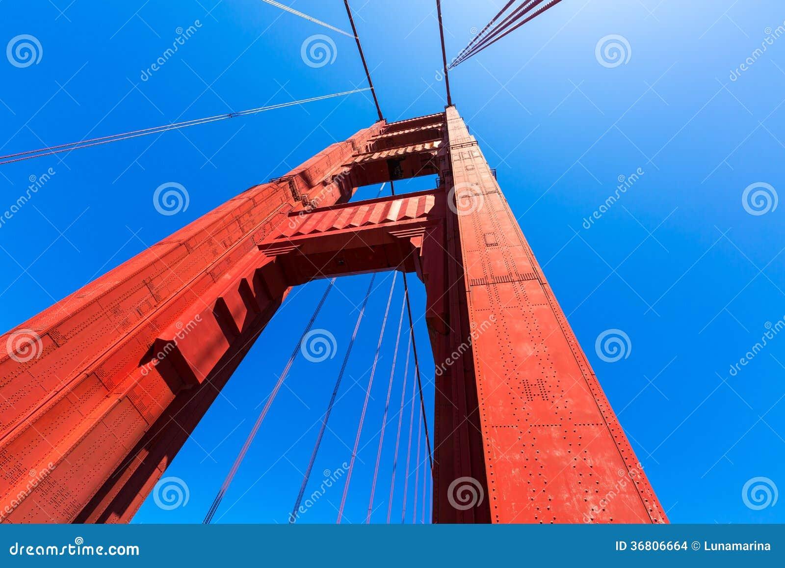 Детали моста золотого строба в Сан-Франциско Калифорнии
