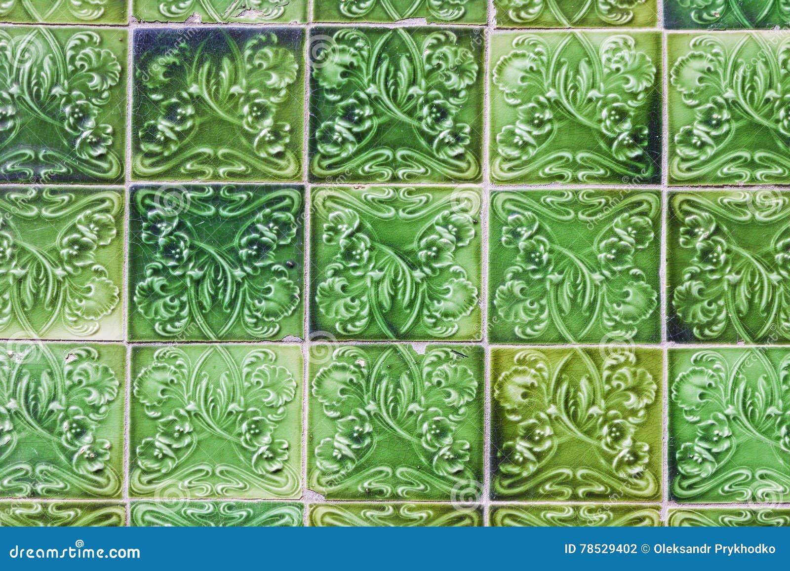 Детали типичных португальских старых керамических плиток стены & x28; Azulejos& x29;