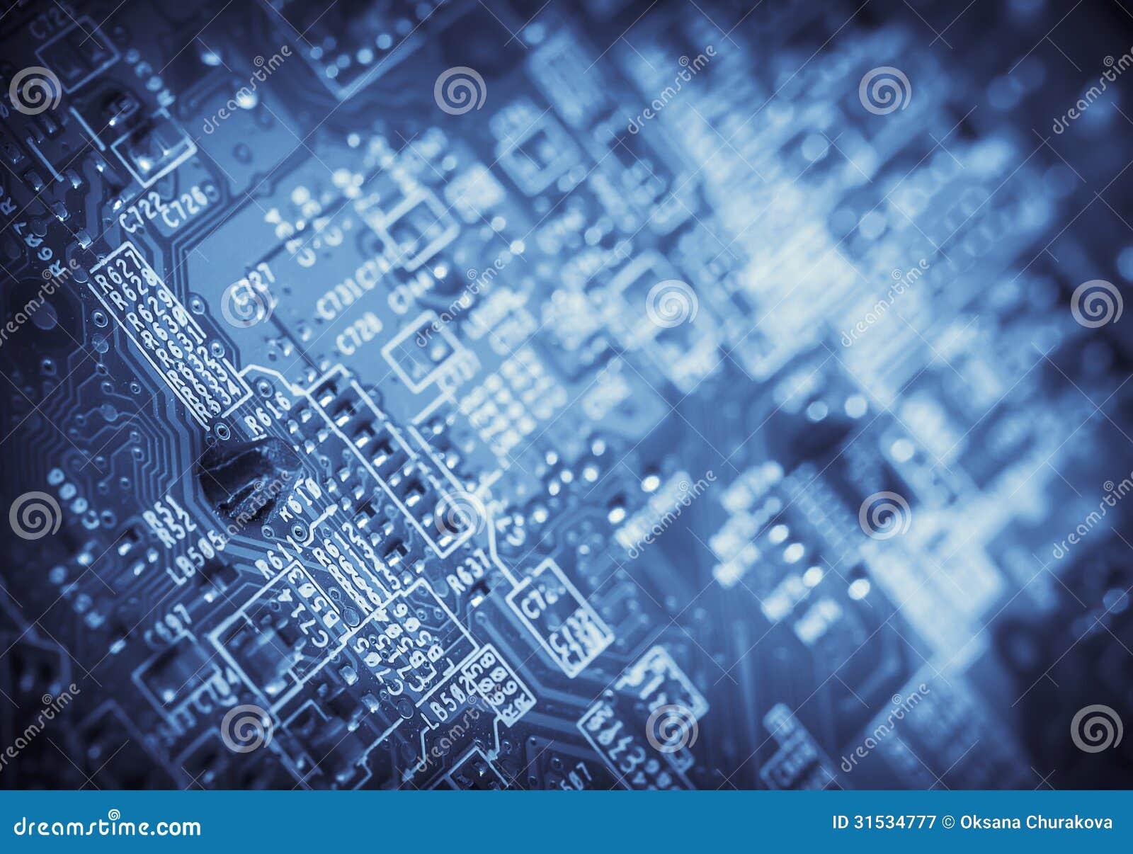 Деталь компьютерной микросхемы