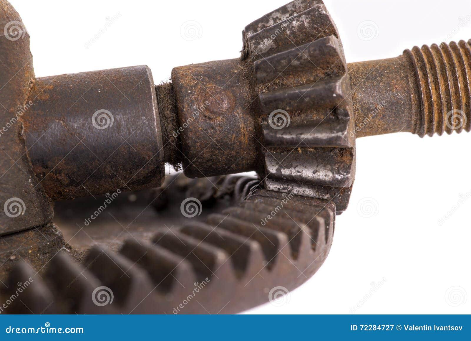 Download Деталь старой шестерни машины Стоковое Изображение - изображение насчитывающей ржавчина, часть: 72284727