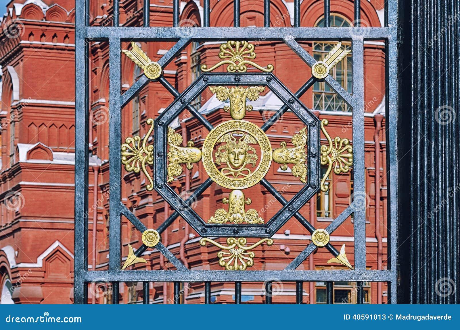 Деталь строба на садах Александра, Москвы