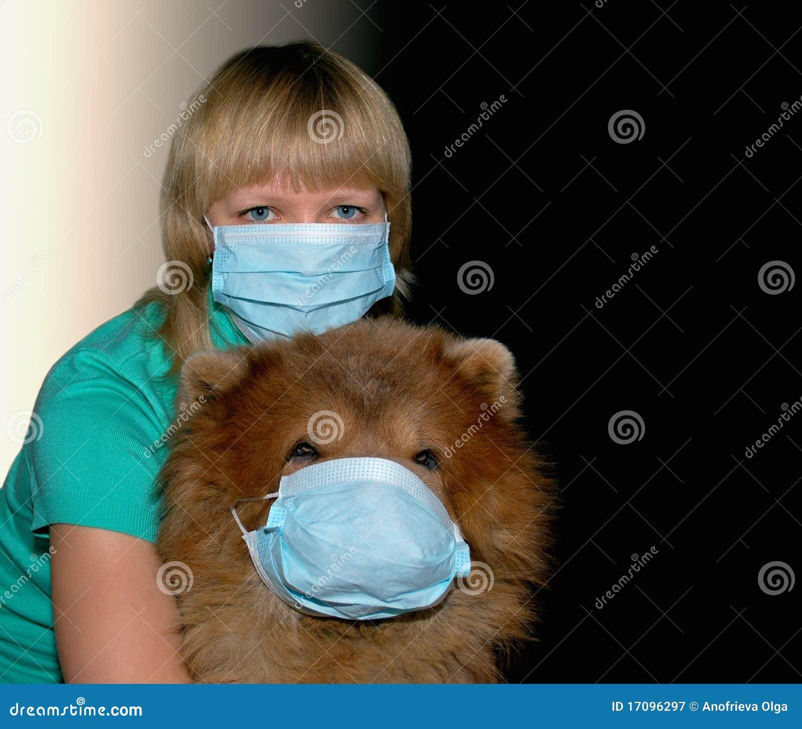 детеныши женщины предохранения от маски собаки