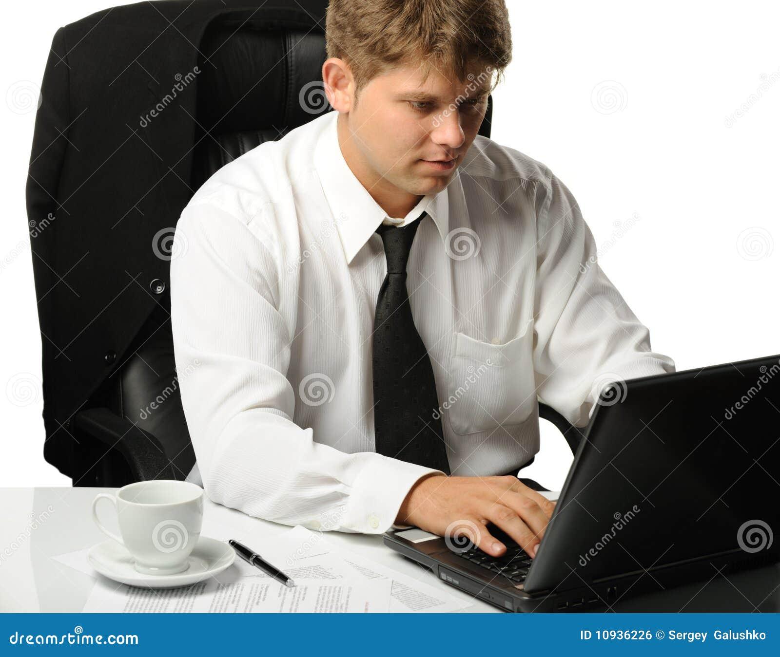 детеныши рабочего места бизнесмена